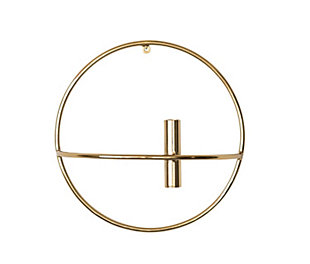 Large Metal Wall Taper Candleholder with Brass Finish, , rollover