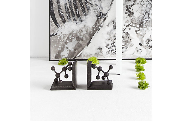 Home decorating idea using this accessory. Home Accents Molecule Bookend  Set of 2    Ashley Furniture HomeStore