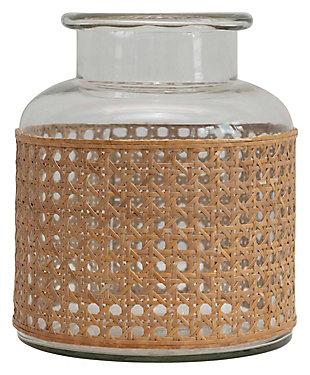 "8""H Glass Vase with Decorative Cane Sleeve, , large"
