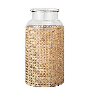 "14.5""H Glass Vase with Decorative Cane Sleeve, , large"