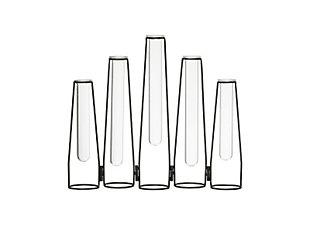 """5 Glass Test Tube Vases in 13"""" Long Foldable Black Metal Frame, , rollover"""