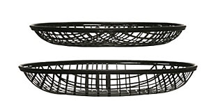 "14"" and 16"" Round Decorative Metal Wire Baskets (Set of 2 Sizes), , rollover"