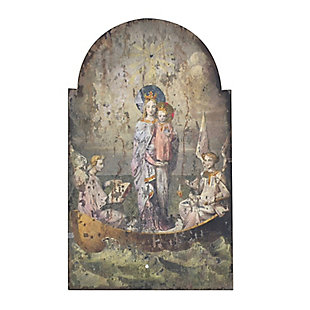Home Accents Vintage Mary and Angels Image on Decorative Wood Wall Decor, , large