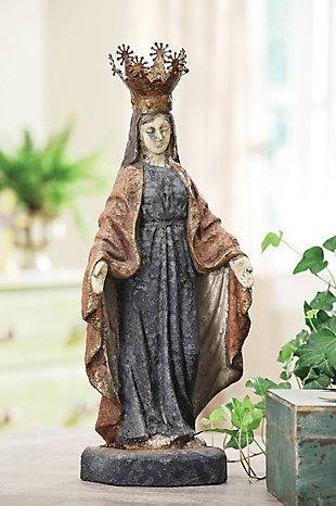 Virgin Mary Statue with Removable Crown, , rollover
