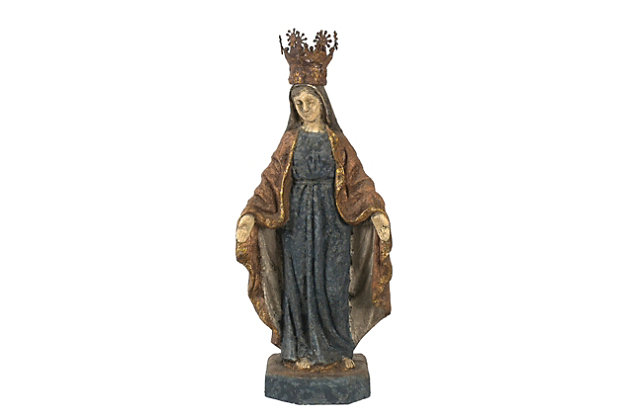 Virgin Mary Statue with Removable Crown, , large