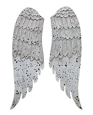 Home Accents Small Decorative Angel Wings in Distressed Grey, , large