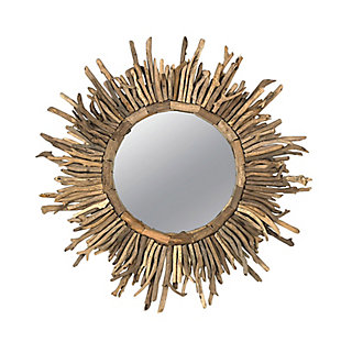 Driftwood Sunburst Mirror, , large