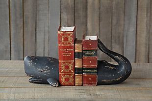Whale Shaped Resin Bookends (Set of 2 Pieces), , rollover