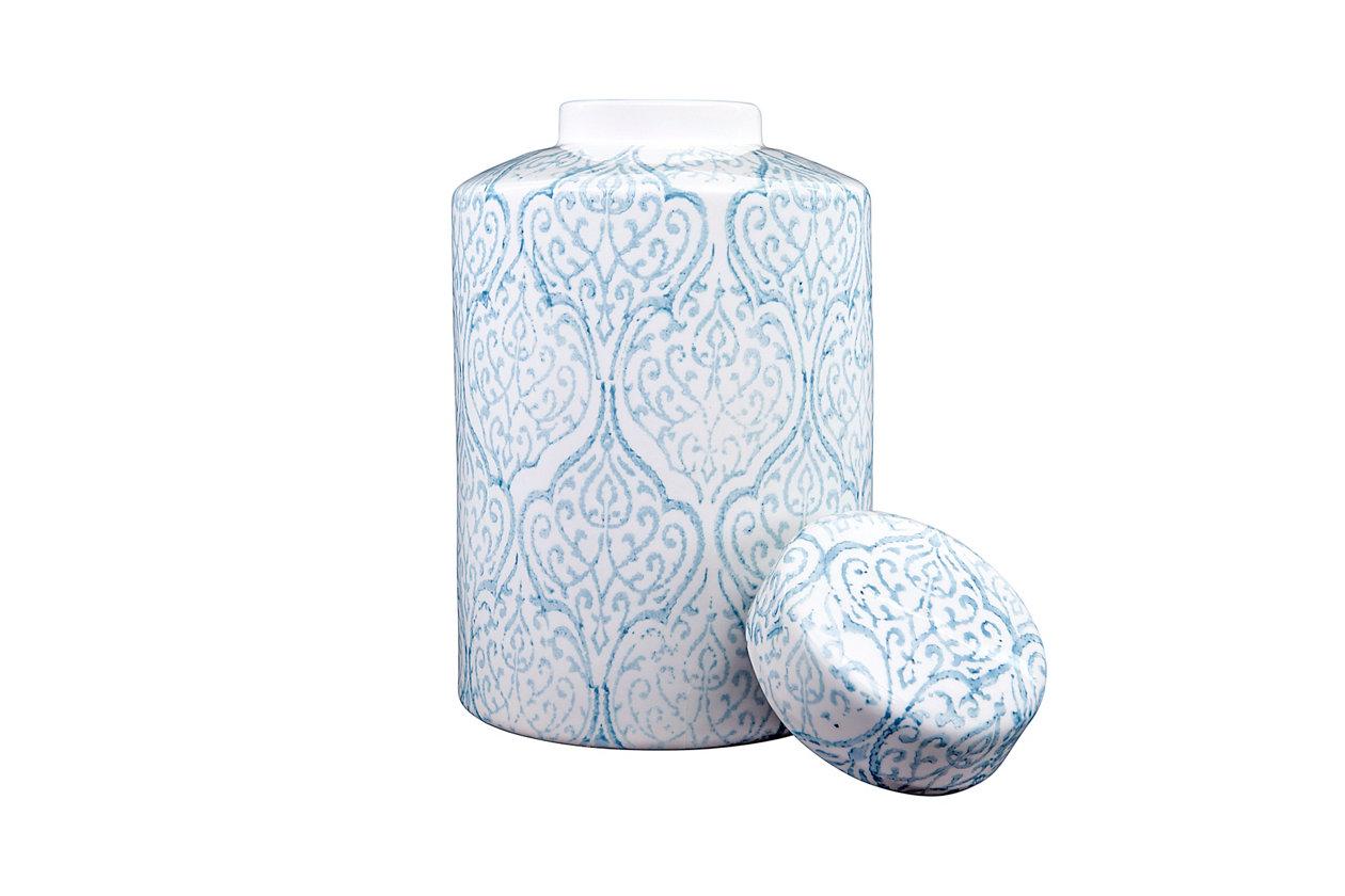 Ceramic Blue /& White Ginger Storage Jar With Lid Brand New 12x8x8cm