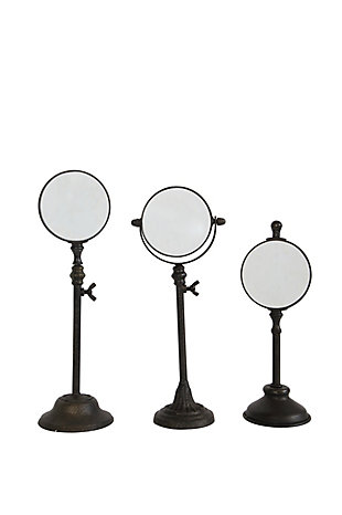 Metal Magnifying Glasses on Stands (Set of 3 Sizes), , large