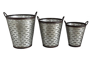 Iron Olive Buckets with Handles (Set of 3 Sizes), , large