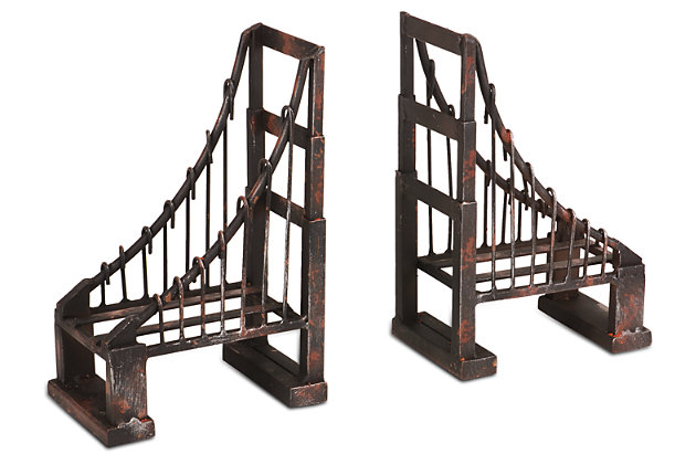 Home Accents Bridge Bookend (Set of 2), , large