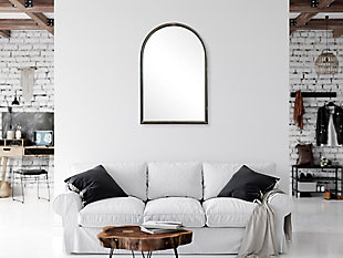 Arched Mirror with Metal Trim, , rollover