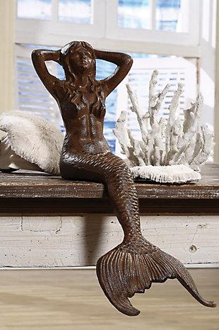 Cast Iron Sitting Mermaid, , rollover
