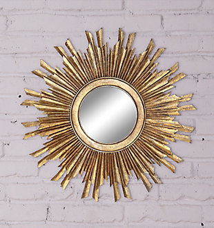 Home Accents Gold Sunburst Mirror, , rollover