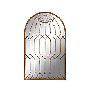 Home Accents Arched Mirror with Iron Cage Design, , large