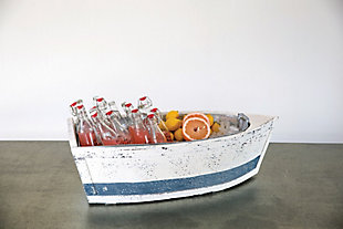 Decorative Wood Boat with Tin Insert, , rollover
