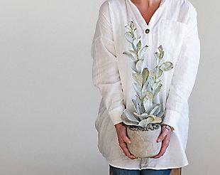Faux Succulent in Cement Pot, , rollover