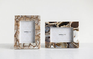 Brown Agate Photo Frame (Each one will vary), , rollover