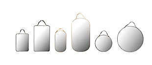 Home Accents Velvet Edged Wall Mirrors with Hangers (Set of 6 Sizes/Colors), , large