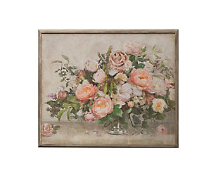 "37.25""W Flower Bouquet Wood Framed Wall Decor, , large"
