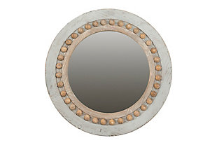 Home Accents Round Decorative Wood Wall Mirror, , large