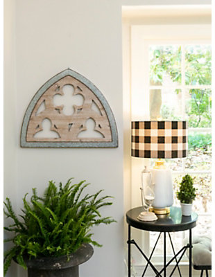 """Home Accents 27.5"""" Wood and Metal Wall Decor, , rollover"""