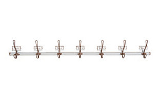 Home Accents 7 Numbered Wall Hooks on Rod, , large