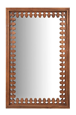 "43.25"" Wood Wall Mirror, , rollover"