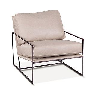 Portlando  Portlando Origami White Leather Armchair, , large