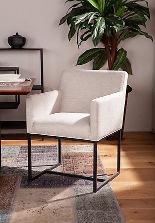 Rebel  Rebel Off-White Linen Armchair, , rollover
