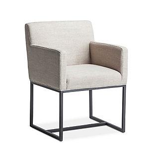 Rebel  Rebel Off-White Linen Armchair, , large
