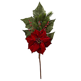 "Christmas 31"" Poinsettia, Berries and Pine Artificial Flower Bundle (Set of 3), , large"