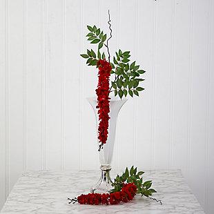 "Christmas 28"" Wisteria Artificial Flower (Set of 8), , rollover"
