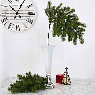 "Christmas 36"" Pine Artificial Hanging Flower (Set of 4), , rollover"