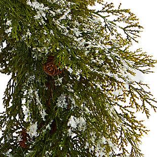 "Christmas 20"" Snowed Artificial Cedar Wreath with Pine Cones, , large"