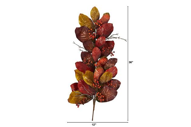 "Harvest 36"" Autumn Magnolia Leaf with Berries Artificial Tear Drop, , large"