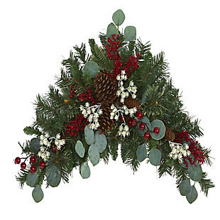 "Christmas 28"" Eucalyptus and Pine Artificial Swag with Berries and Pine Cones, , large"