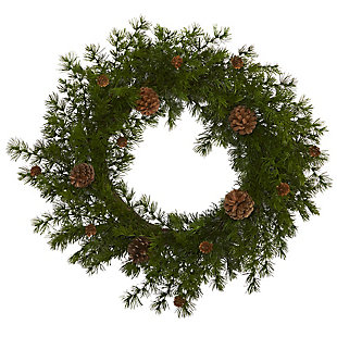 "Christmas 18"" Alpine Pine and Pine Cone Artificial Wreath, , large"