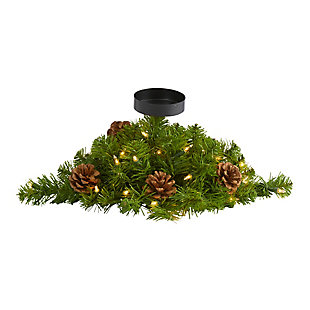 """Christmas 16"""" Christmas Pine Candelabrum with 35 Lights and Pine Cones, , large"""