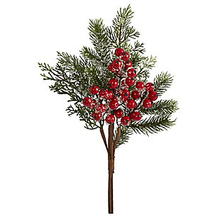 "Christmas 20"" Iced Pine and Berries Artificial Plant (Set of 6), , large"