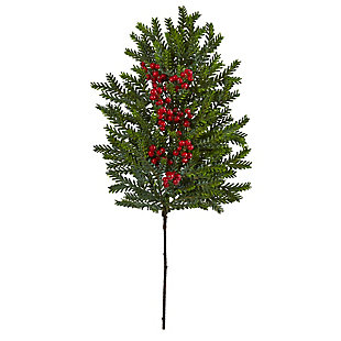 "Christmas 34"" Pine and Berries Artificial Hanging Plant (Set of 3), , large"
