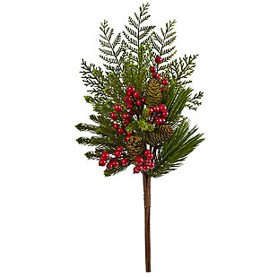 """Christmas 26"""" Mixed Pine, Pinecone and Berry Artificial Plant (Set of 3), , large"""