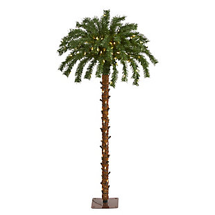 Sterling 4' Christmas Palm Artificial Tree with 150 Warm White LED Lights, , large