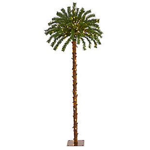 Sterling 5' Christmas Palm Artificial Tree with 150 Warm White LED Lights, , large
