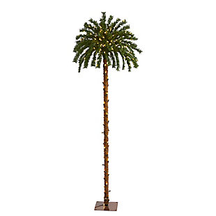 Sterling 6' Christmas Palm Artificial Tree with 200 Warm White LED Lights, , large