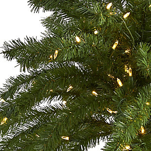 Sterling 7' Christmas Palm Artificial Tree with 300 White Warm LED Lights, , large