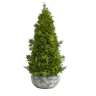 """Sterling 18"""" Cypress Cone Artificial Tree in Decorative Planter, , large"""