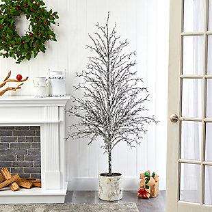 Sterling 6' Snowed Twig Artificial Tree in Decorative Planter, , rollover
