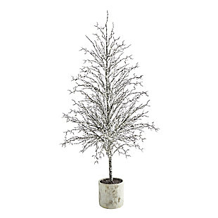Sterling 6' Snowed Twig Artificial Tree in Decorative Planter, , large